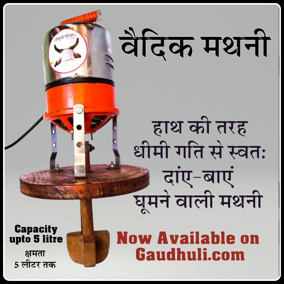 Vedic Mathni / Bilona (with Speed Regulator) वैदिक मथनी / बिलोना – गति नियंत्रक के साथ